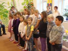 Vystoupení žáků ZUŠ podvedením pana Kuchaře