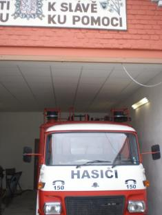 Hasička - garáž (leden 2010)