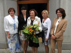 Paní Livia Klausová sučitelským sborem - 1.9.2010