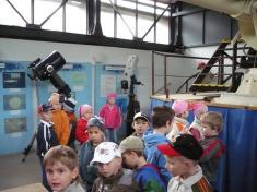 Děti zMŠ vLidové hvězdárně vProstějově 20.5.2008
