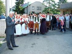 Sobota 5.září - Slavnostní zahájení předbudovou obecního úřadu