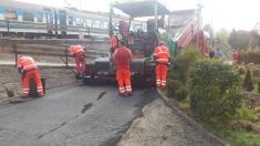 Oprava cesty k nádraží